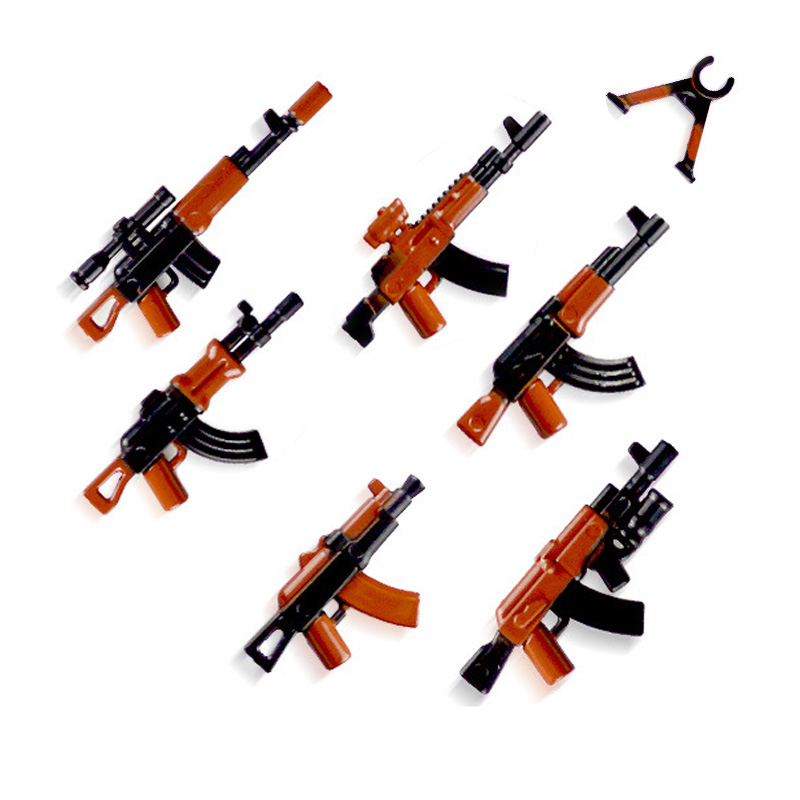 lego military weapons guns blocks 10