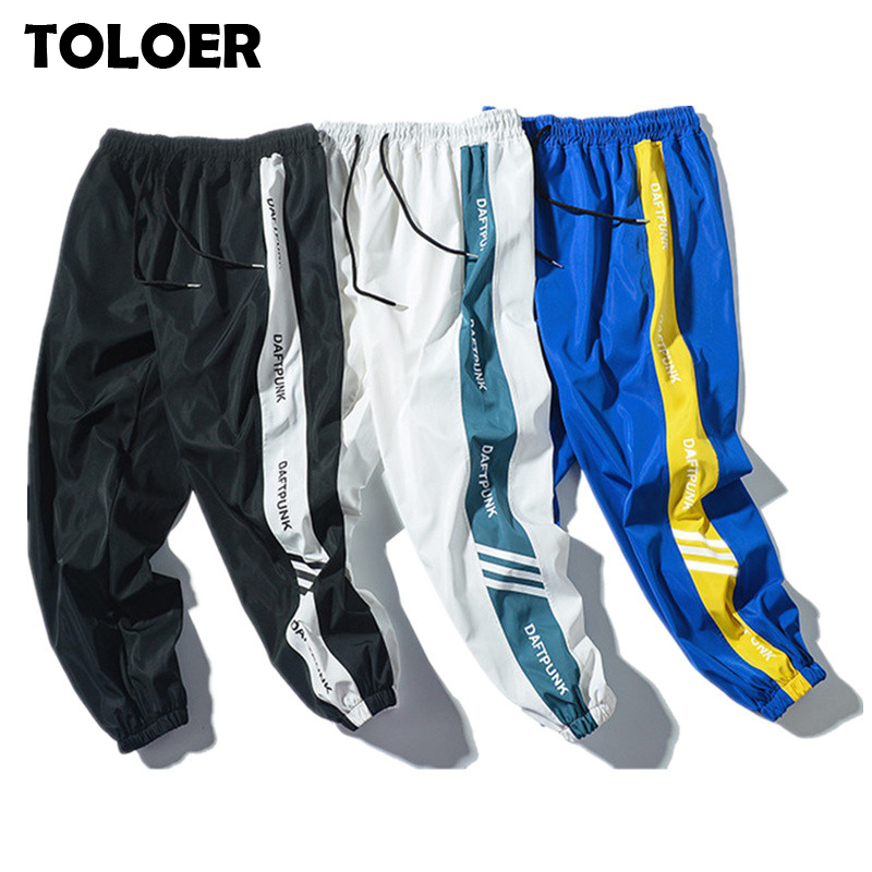 Men Casual Pants Japan Style Trend Summer New Male Drawstring Side Stripe Loose Trousers Men''s Fashion Street Hip Hop Sweatpants