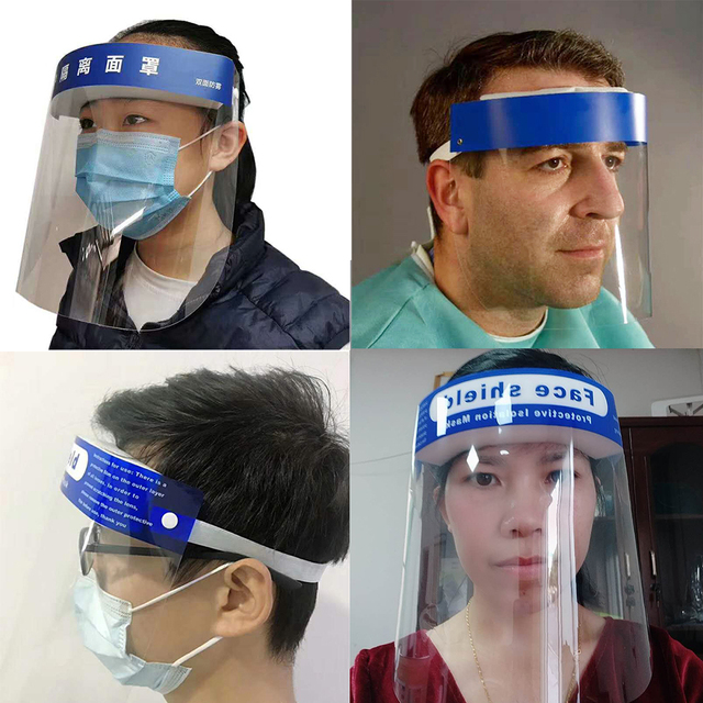 Splash-proof Dust-proof Mask Head-mounted Transparent Protect Mask Adjustable Protective Face Shield Anti Droplet Full Face Mask 3
