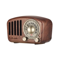 Vintage Radio Retro Bluetooth Speaker Walnut Wooden Fm Radio, Strong Bass Enhancement, Loud Volume, Bluetooth 4.2 Aux Tf Card