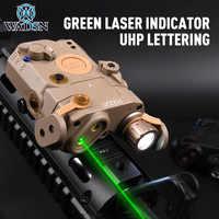 WADSN-LA-5C táctico Airsoft PEQ15 UHP, luz verde IR, láser, linterna LED LA5 PEQ, Rifle de caza, arma, carril de 20mm