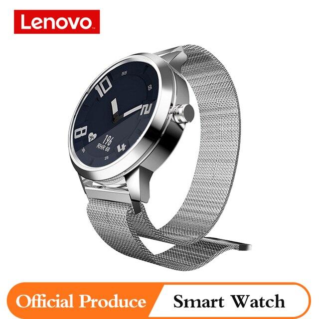 เดิมLenovoนาฬิกาผู้ชายผู้หญิงสมาร์ทนาฬิกา 80M Waterproof Heart Rateความดันโลหิตสมาร์ทนาฬิกาสำหรับXiaomi samsung