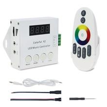 WS2812B WS2811 WS2813 6803 USC1903 IC Digital Adressierbare Led streifen Musik fernbedienung 1000 Pixel Bunte Controller X2 X1 DC 5  24V