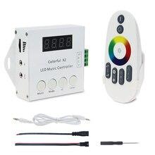 WS2812B WS2811 WS2813 6803 USC1903 IC דיגיטלי מיעון LED רצועת מוסיקה מרחוק 1000 פיקסלים צבעוני בקר X2 X1 DC 5  24V