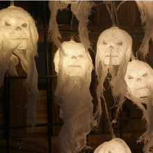 1m 10leds Halloween skeleton batteries ghost head atmosphere decoration gifts scare for boys