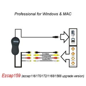 Image 2 - EzCAP 159 USB 2,0 Аудио Видео Запись карта CVBS Композитный S Video Recorder для V8 Hi8 DVD VHS DVR TV Camcorder
