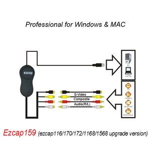 Image 2 - EzCAP 159 USB 2.0 الصوت والفيديو التقاط عصا تسجيل بطاقة CVBS مركب S مسجل فيديو ل V8 Hi8 DVD VHS DVR TV كاميرا الفيديو