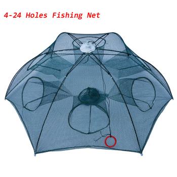 4-24 otwory automatyczna sieć sieć rybacka pułapka na ryby siatka klatka dla krewetek nylonowa parasolka składana kraba obsada sieci obsada sieci rybackiej tanie i dobre opinie CN (pochodzenie) Multifilament Małe oczka HW-YW-001 74cm 95cm Podwójne Drive-in netto 35cm 4 6 8 10 12 16 20 24 holes fishing trap