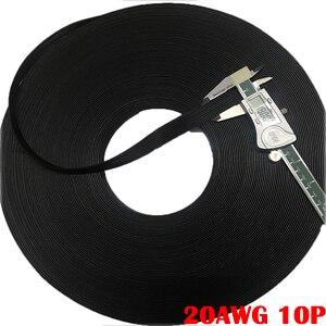 Image 5 - 10metr 20AWG przewód silikonowy Ultra elastyczna linia testowa 3P 10pin 0.5 kwadrat 100*0.08mm cynowany kabel miedziany linia wysokotemperaturowa