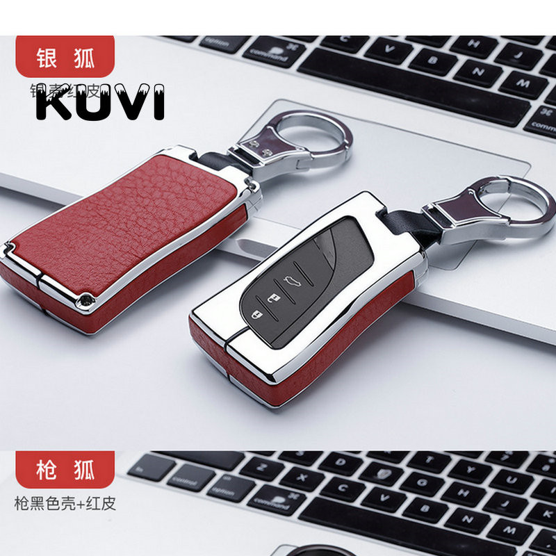 Leather Smart Key Case Cover For <font><b>Lexus</b></font> 2018 <font><b>2019</b></font> IS ES GS LS500h NX <font><b>RX</b></font> LX LC RC ES350 US200 US260h UX200 UX250h Fob Car Styling image