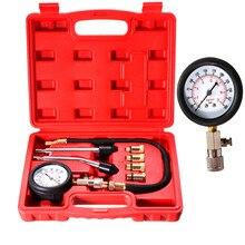 مقياس ضغط محرك البنزين ، طقم أدوات إصلاح الضغط 0 300 PSI ، للسيارة