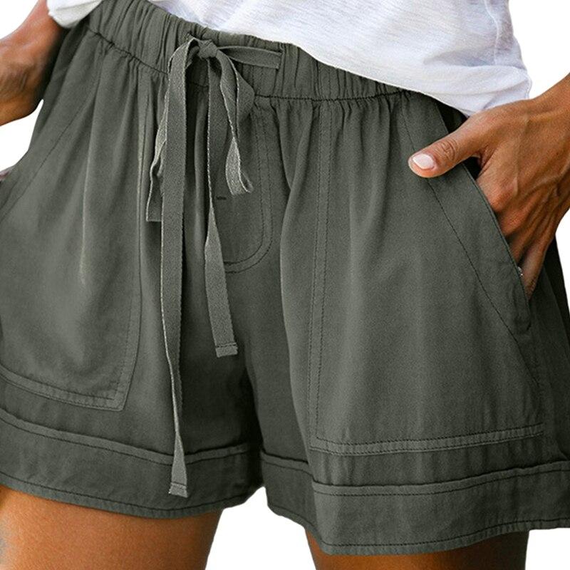 Summer Women High Waist Shorts Plus Size Sexy Casual Loose Wide Legs Shorts Women Fashion Sport Shorts