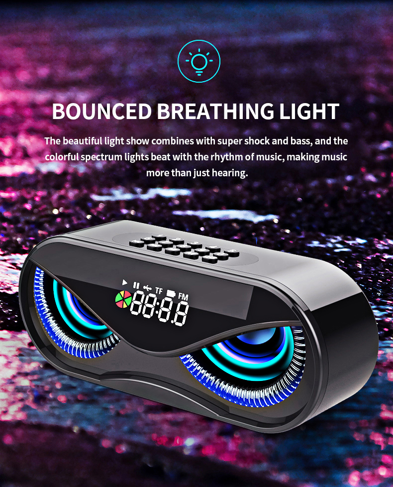 FM Radio Alarm Clock Bluetooth Speaker with LED Flash Hb5264865125e4a3087d7ff9a73ca8196F speaker