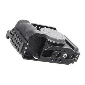 Image 2 - Kamera Käfig für Sony a6600 Pro Kamera Käfig L Quick Release Platte Doppel Kopf Kalten Schuh Stabilisator Rig Käfig Für sony EINE 6600