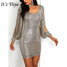 It's YiiYa Dress Prom Long Sleeve O-Neck Vestidos De Gala Se