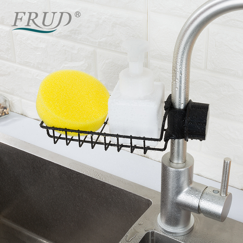Stainless Steel Faucet Storage Racks Adjustable Sink Rag Sponge Draining Rack Kitchen Bathroom Soap Storage Holders Shelves(China)