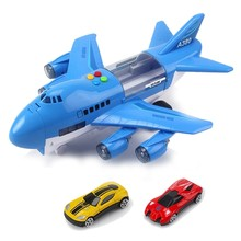 Music Simulation Track Inertia Children's Toy Aircraft Large Size Passenger Plane Kids Airliner Toy Car(China)