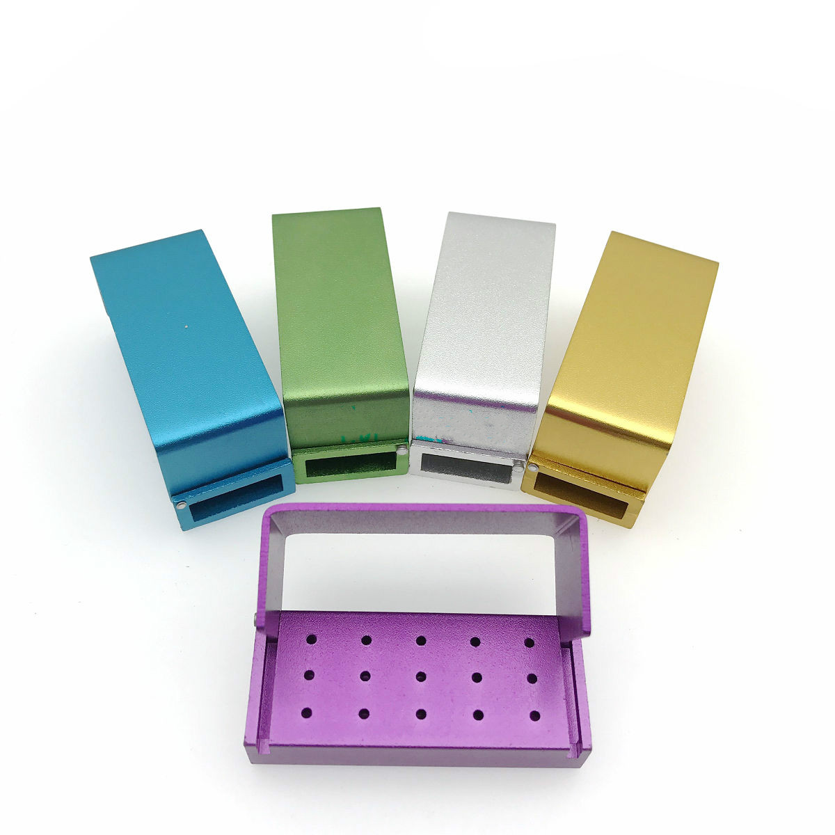 5Pcs /lot Dental Bur Holder Stand Autoclave Disinfection 15 Holes Box Case For High Speed Burs Dentistry Instrument