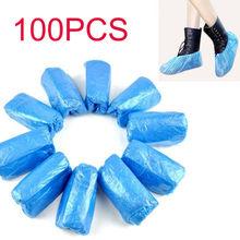 100 шт одноразовые пластиковые противоскользящие бахилы очистка галоши защитная