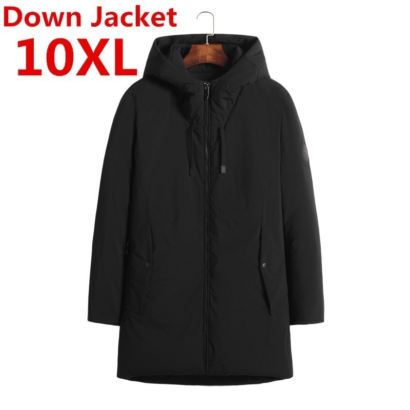 10XL 9XL Plus Size Thick Warm Winter Jacket Parkas Men Casual Fur Collar Hood Military Overcoat Windproof White Duck Down Jacket