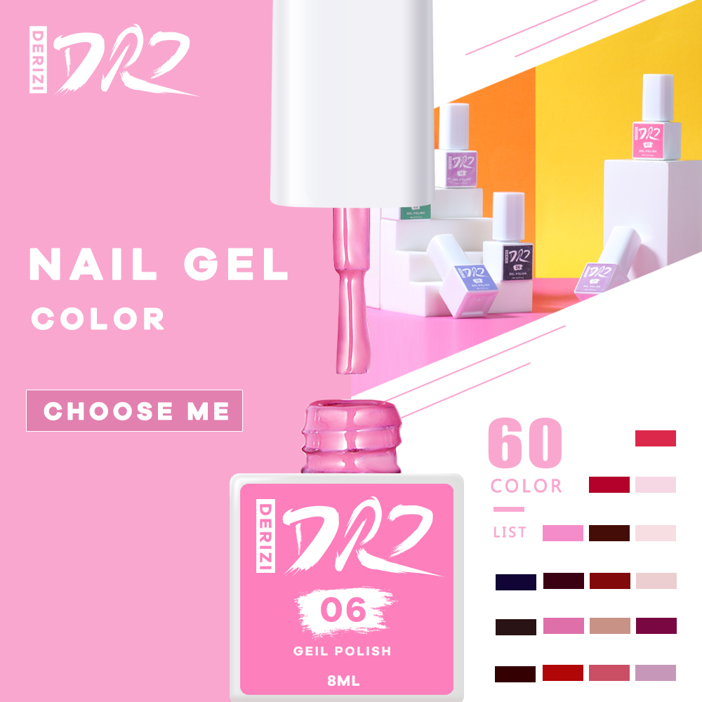 DERIZI 60 Colors Gel Nail Polish Semipermanant Nail Polish Varnish Semi-permanent Varnish UV Nail Gel Primer Soak Off Nail Art