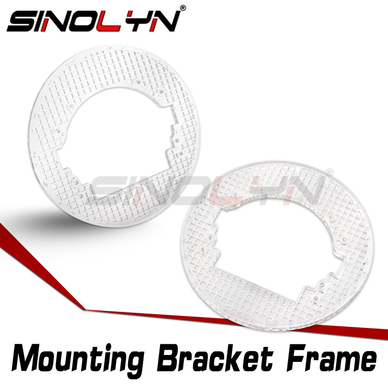 Sinolyn Transition Mounting Bracket For Koito Q5/Hella 3R G5 Bixenon Projector Lens Headlight Universal Frame Accessories Tuning