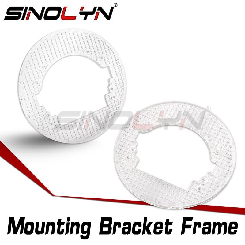 Sinolyn Transition Mounting Bracket For Koito Q5/Hella 3R G5 Bixenon Projector Lens Headlight Universal Frame Accessories Tuning