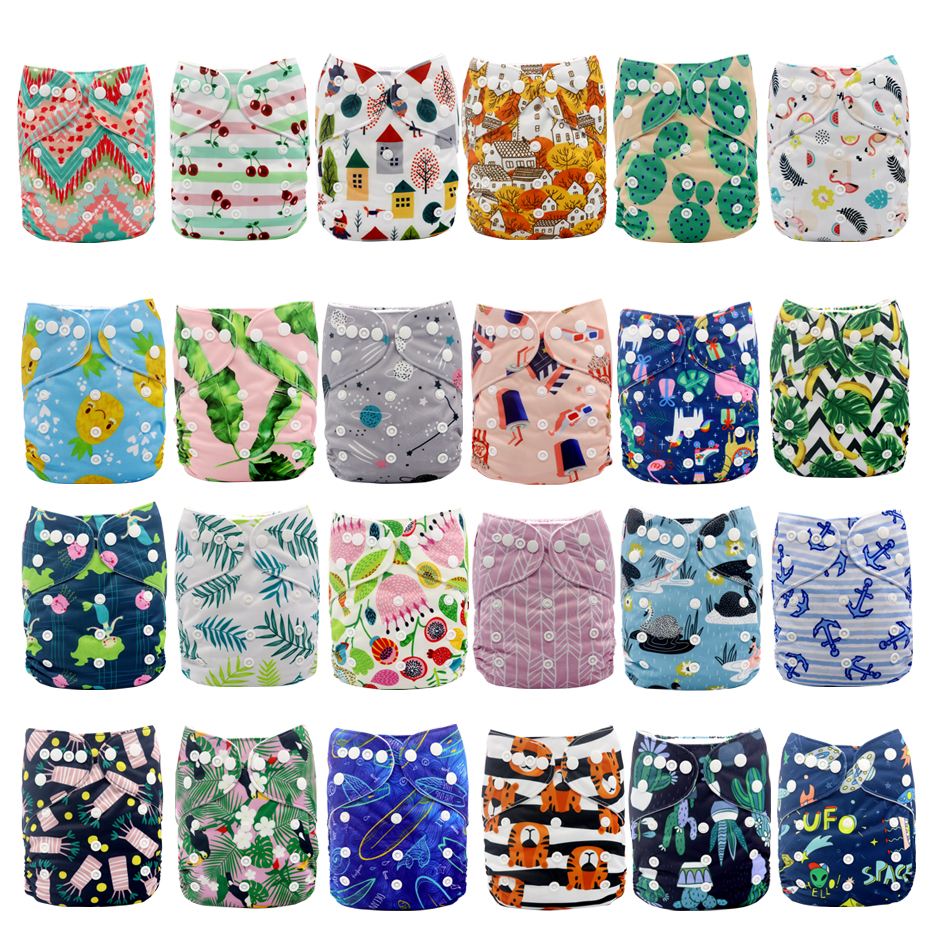 MABOJ Reusable Diapers Baby Cloth Pocket Diaper Nappies Cover Washable Nappy ECO Nappy Waterproof AIO Bebe OS Nappy Wholesale