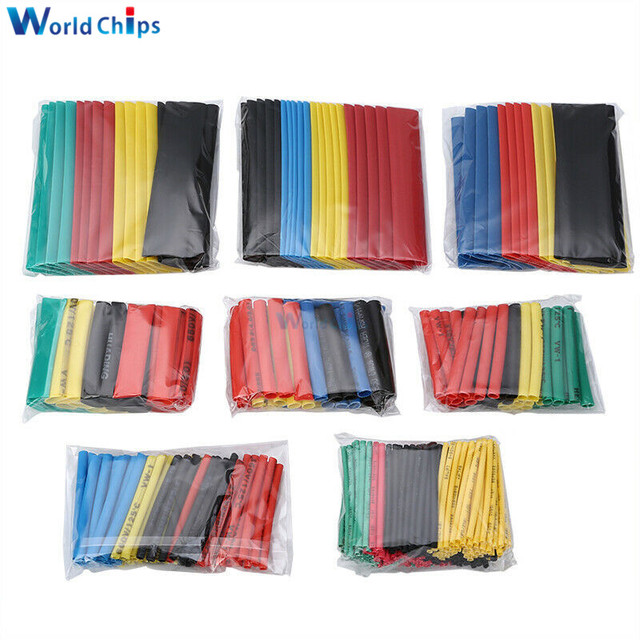 400pcs Polyolefin Heat Shrink Tube Mixed Color 8 sizes 1-14mm 2:1 Heat Shrink Tubing Wire Cable Sleeves Wrap Wire Assortment Set 2