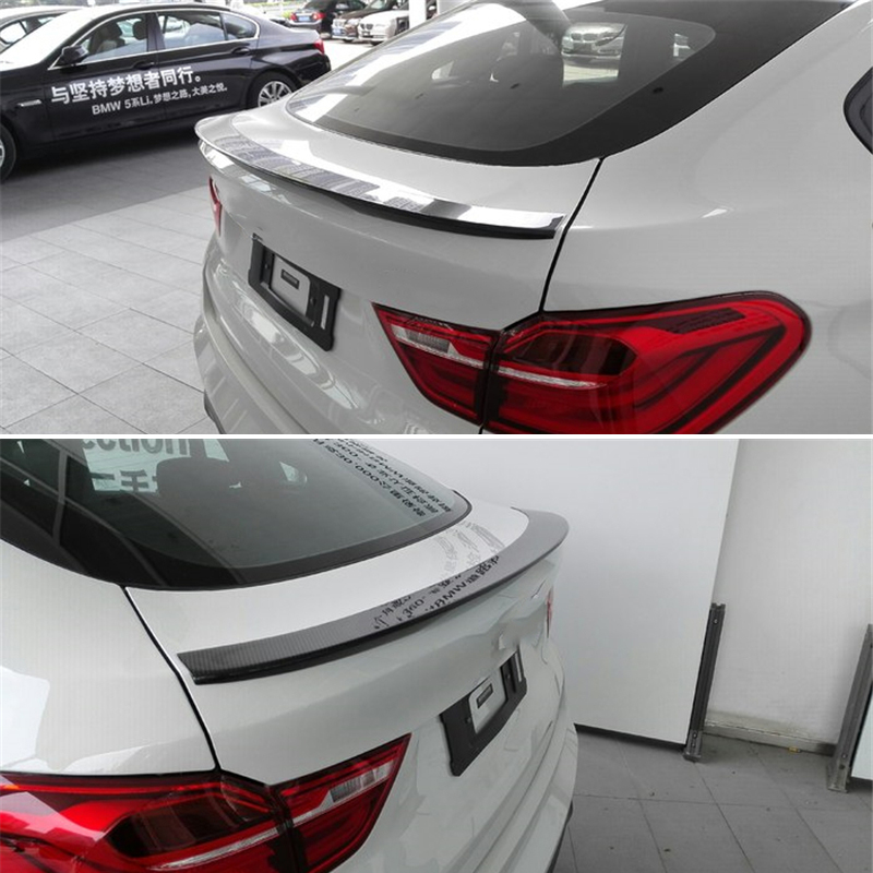 Use for <font><b>BMW</b></font> X4 <font><b>F26</b></font> <font><b>spoiler</b></font> 2013--2017 year glossy real carbon fiber rear wing P style Sport Accessories body kit image