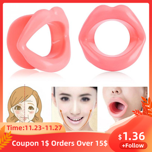 Silicone Rubber Face Lifting Lip Trainer Mouth Muscle Tightener Face Massage Exerciser Anti Wrinkle Lip Exercise Mouthpiece Tool