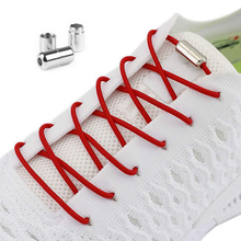 Shoelaces-Lock Lazy Elastic Round Metal Convenient Fast Children Fashion And 1-Pair Adults