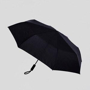 Image 5 - Xiaomi Katlanır otomatik şemsiye WD1 23 inç Güçlü rüzgar geçirmez Hiçbir film güneş koruyucu su geçirmez Anti UV güneş şemsiyesi