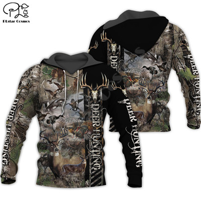 PLstar Cosmos Animal Deer Bow Hunting Hunter Causal Harajuku New Fashion 3DPrint Zipper/Hoodies/Sweatshirt/Jacket/Men/Women S-16