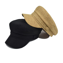 Newsboy Cap Hat Beret-Cap Linen Women for Ladies Greek Sailor-Hat Light-Weight