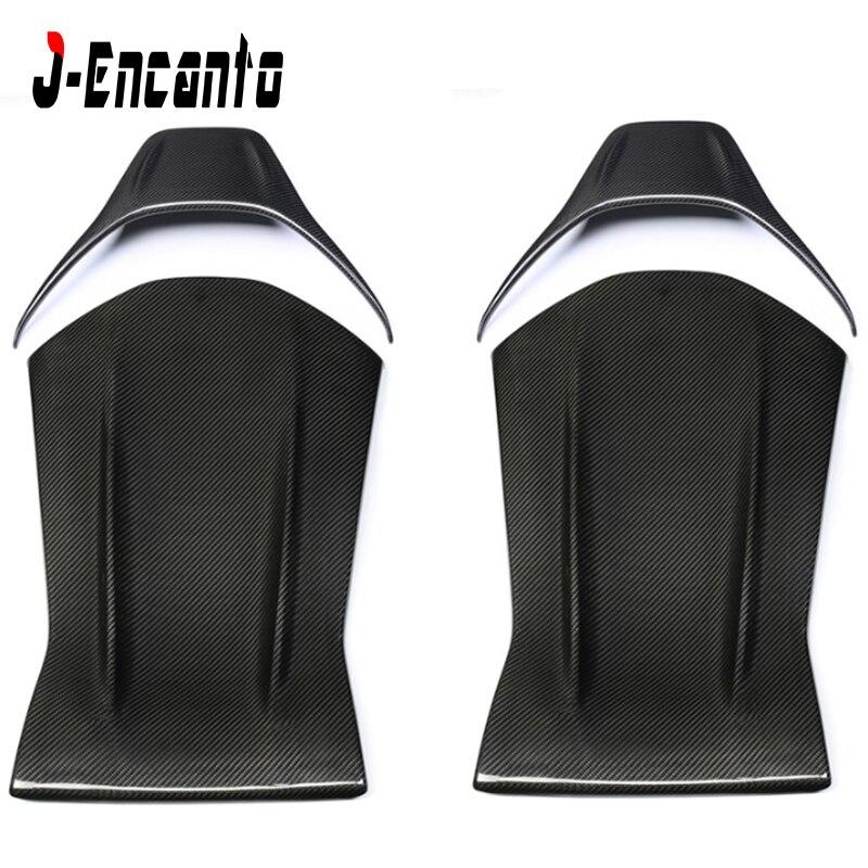 100% DRY Carbon fiber Car Seat Back Cover for Mesades Benz C class  A45  CLA45  GLA45 E63 C63 four door  Seat back base Panel|Seats  Benches & Accessoires| |  - title=