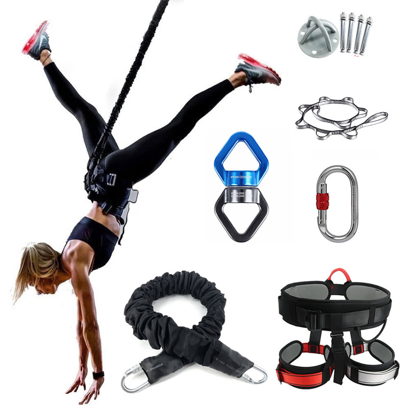 Bungee Dance Flying Suspension Rope Aerial Anti-gravity Yoga Cord Resistance Band Set Workout Fitness Home GYM Equipment