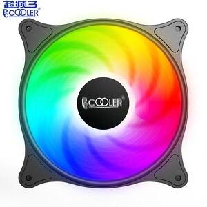 PCcooler SRGB цветной светодиодный бесшумный вентилятор 12 см чехол для компьютера Вентилятор охлаждения процессора, вентилятор охлаждения RGB, с 3-...