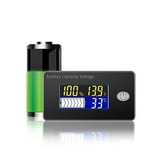 DC 10V~100V Li-ion Lifepo4 Lead acid Battery Tester Capacity Indicator Meter Voltmeter Temperature Monitor 12V 24V 36V 48V 96V(China)