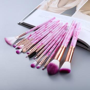 FLD5/15Pcs Makeup Brushes Tool Set Cosmetic Powder Eye Shadow Foundation Blush Blending Beauty Make Up Brush Maquiagem 6