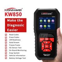 KONNWEI KW850 Autoscanner OBD 2 OBD2 Automotive Scanner Multi languages Auto Diagnostic Scanner better AL519 NT301 OBD2 Scanner
