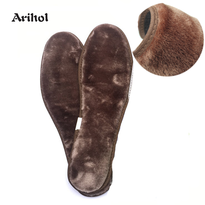 Winter Thick Warm Fur Plush Insole Bamboo Charcoal Anti-Odor Shoes Pad Warm Fluffy  Fleece Wool Replacement Insoles For Shoes