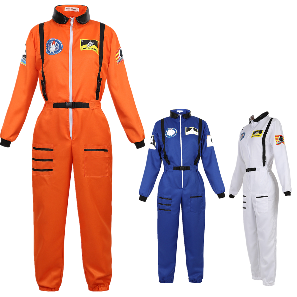 Astronaut Costume Adult Women Space Suit Dress Up Costume