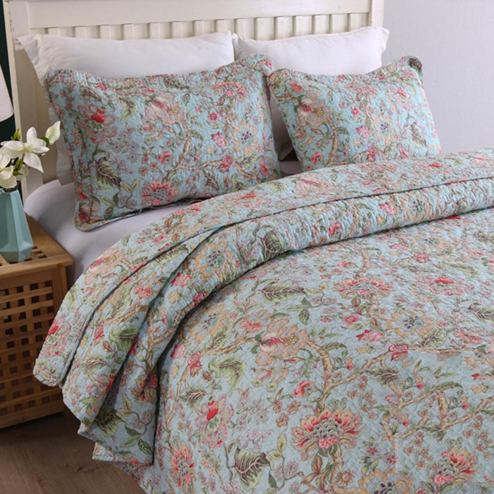 4 farben Floral Muster Quilt Dicken Wirft Decke Stepp Plaids Bettdecke Sofa Decke Bettwäsche Für Home Hotel Baumwolle Bettdecke - 3