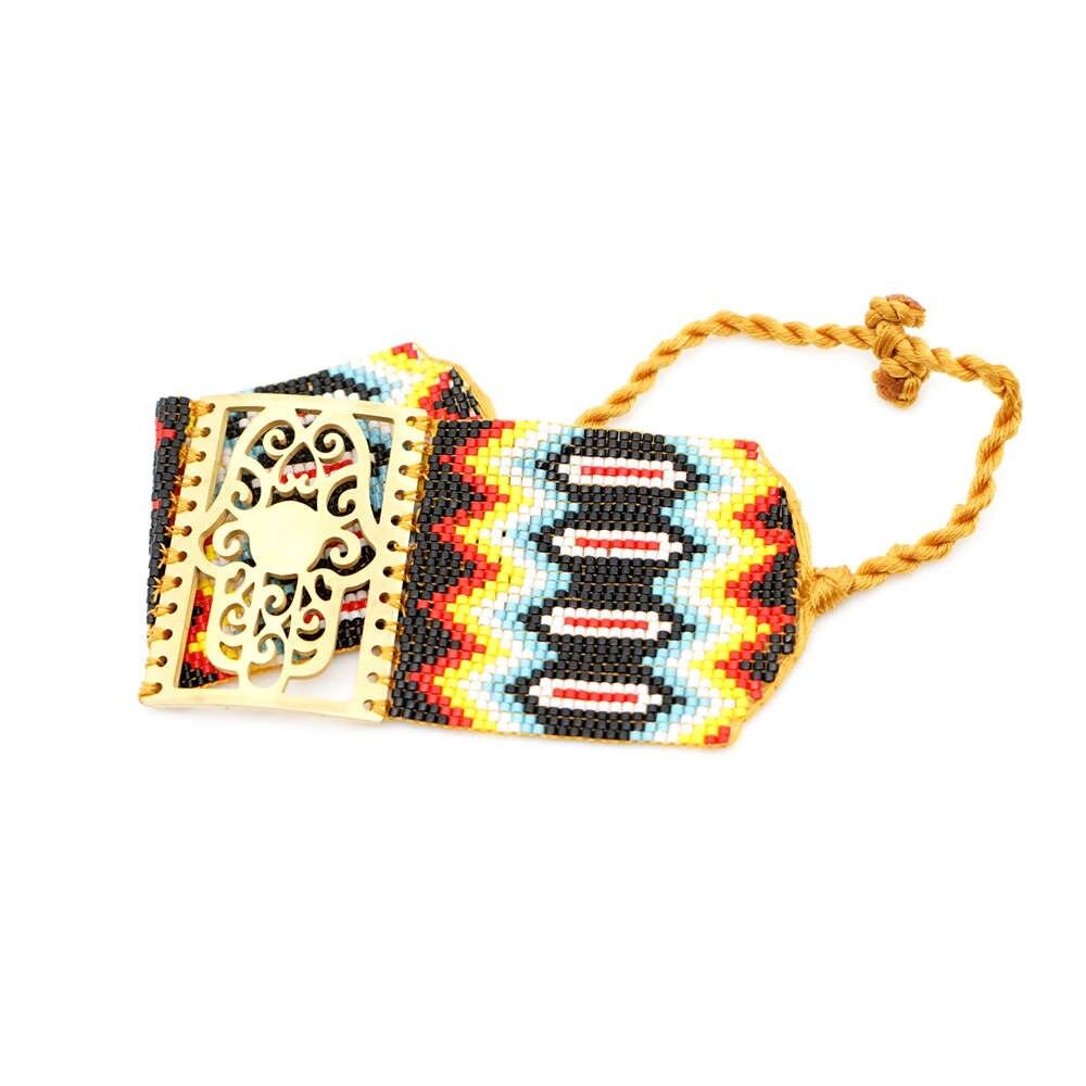 Image 5 - Go2boho MIYUKI Evil Eye Bracelet Jewelry Women Pulseras Mujer 2019 Bohemian Summer Hamsa Hand Cuff Bracelets Handmade Loom WovenCharm Bracelets   -