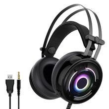 1 conjunto de jogos fone de ouvido estéreo com fio fone de ouvido para ns switch lite/x box um/ps4 pc x3ub