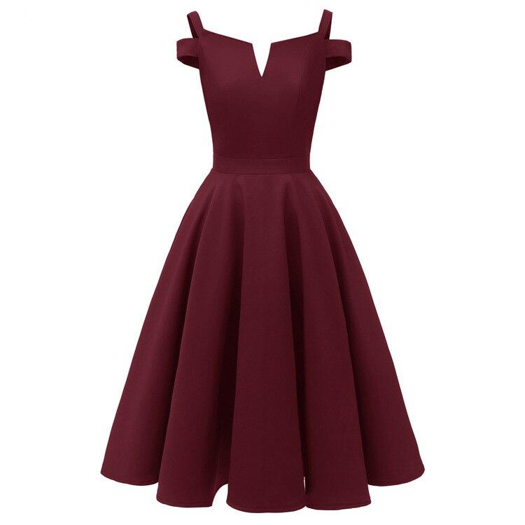 Burgundy Cocktail Dresses Robe Semi Formal Navy Blue Pink Off-Shoulder Elegant Party 2019 Short Vestidos Homecoming Dress