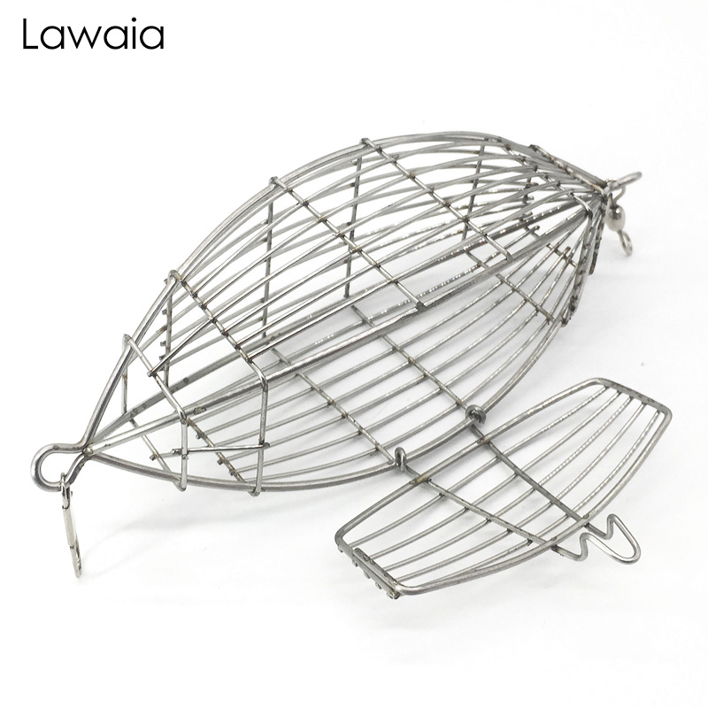 Lawaia Fishing Olive-shaped Bait Thrower High Quality Stainless Steel Cage Fight Nest Accessories