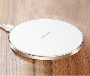 Быстрое беспроводное зарядное устройство QI 10 Вт для samsung Galaxy S10 S9/S9 + S8 Note 9 10, USB Qi зарядная подставка для iPhone 11 Pro XS Max XR X 8 Plus
