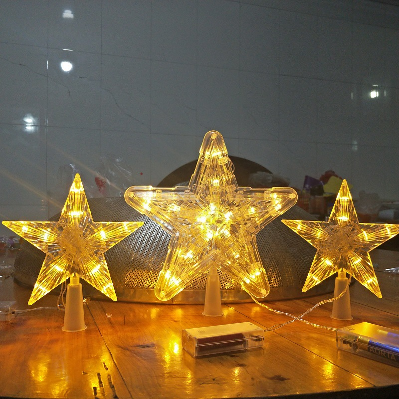 220V EU Plug LED Twinkle Star Decotation Lights Plastic Waterproof Lamp Christmas Tree Decor Garland Winter Holiday Light